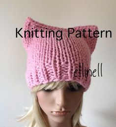 Knitting PATTERN Pussy Hat DIY  NOT a completed Hat by ellinell