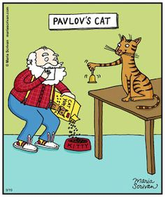 Mystery Fanfare: Cartoon of the Day: Pavlov's Cat