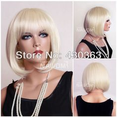 Blond Cosplay Wig Short Bob Wig for Women Best Synthetic Wig
