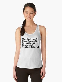 best service 03cb9 53cd6 Five Boroughs ~ New York City Women s Tank Top Rundhals Shirt, V Neck T  Shirt