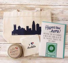 Charlotte, NC wedding welcome bags #weddings #shoplocal