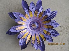 Recycled/ Re-purposed Metal Flower/ Yard Decor/ Garden Art
