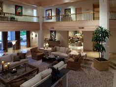 A living room with high ceilings is a must.  I especially love the opened second floor overlooking the living room.