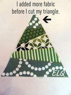 Ellison Lane Quilts: Christmas Tree Block Tutorial.