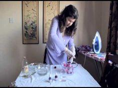 Pintura de seda en microondas