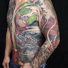 Full Back Tattoos, Full Sleeve Tattoos, Japanese Tattoo Samurai, Asian Tattoos, Japan Tattoo, Mexican Skulls, Body Is A Temple, Irezumi, Body Tattoos