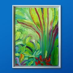 Original Oil Painting on canvas thick paint tropical palm tree flowers roses oasis rainforest holiday vibes bright blue sky green botanical Oil Painting On Canvas, Watercolor Paintings, Palm Tree Flowers, Small Paintings, Oasis, Tropical, Bright, Sky, The Originals