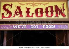 stock photo : Saloon sign in Wild West style