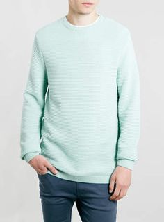GREEN FINE RIB JUMPER - $60