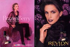 View our otherCindy Crawford ads/editorials. Ad Enthusiast , to see more great magazine ads and editorials! Makeup Magazine, Magazine Ads, Berry Makeup, 90s Makeup, Olay Regenerist, Vintage Makeup, Cindy Crawford, Revlon, Vintage Advertisements