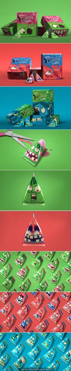 Zombis Freezer Pops by Brandenburg Innovative Packaging, Cool Packaging, Brand Packaging, Product Packaging, Label Design, Box Design, Branding Design, Graphic Design, Package Design