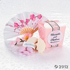 Mini Cherry Blossom Fans, Party Favors