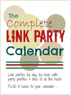 Mums make lists ...: Link Party Calendar