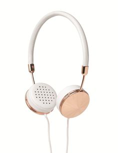 White Leather Layla Headphones Frends