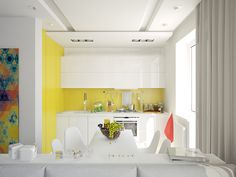 a small and bright apartment with a splash of colours from Next 1