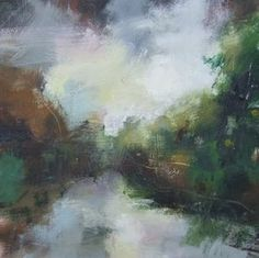 'Meeting Place' - Andy's landscapes draw from the tradition of the Romanticists whilst expressing an energy that is distinctly contemporary. His oil paintings immerse and celebrate the English landscape and its elemental power. Their abstracted quality and emotive aura mean they do not always reveal themselves immediately, asking you to return and discover something not at first seen. Highlighting the imponderable nature of the earth beneath us and the sky above. - www.kelliemillerarts.com