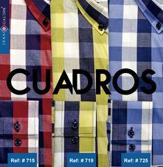 Que no falten los cuadros y colores primarios en tu armario: siempre con estilo. #moda #diseño #cuadros #camisas #modahombre #estilo #manizales
