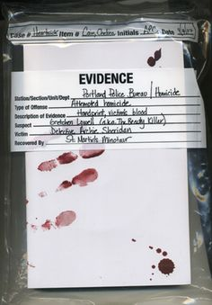 Investigation and Evidence: Collection bags with form. Visual only. (This topic is part of Alberta's Grade Six Science curriculum.)