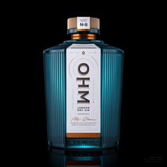 OHM London Dry Gin on Packaging of the World - Creative Package Design Gallery Label Design, Branding Design, Package Design, Wine Design, Graphic Design, Alcohol Spirits, Gin Brands, London Dry Gin, Promotional Design