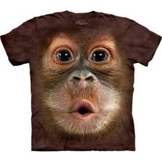 The Mountain Men's Big Face Baby Orangutan Small T-shirt XXXXX-Large