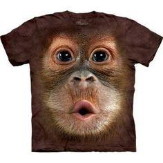 The Mountain Men's Big Face Baby Orangutan Small T-shirt XXXXX-Large