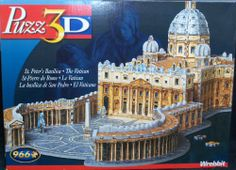 St. Peter's Basilica - Vatican, Rome, 966 Piece 3D Jigsaw Puzzle Made by Wrebbit Puzz-3D Wrebbit http://www.amazon.com/dp/B006H9AP2Q/ref=cm_sw_r_pi_dp_RFwItb1D5565NGDR