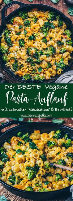 Broccoli pasta bake with vegan cheese sauce - Bianca Zapatk Brokkoli Nudel-Auflauf mit Veganer Käsesauce – Bianca Zapatka Broccoli Mac And Cheese Recipe, Broccoli Pasta Bake, Broccoli Diet, Broccoli Casserole, Vegan Cheese Sauce, Vegan Mac And Cheese, Pasta Cheese, Chicken Salad Recipes, Healthy Salad Recipes