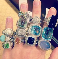 David Yurman rings ..... ohhhh my lanta can i please have them all?