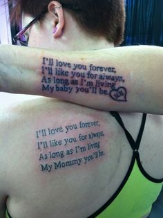 Writing for mother and daughter's love tattoo,, click the pic for more #tattoos
