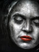 """""""Hingabe I"""", Acryl, 60 x 50 cm"""