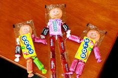 I Sew Cute... and draw pretty nifty also!: Halloween Crafts for Kids to Do Part 1 - Halloween Fun Size Candy People as seen on Martha Stewart