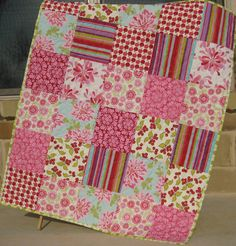 Farmers Market Baby Girl Quilt by SunnysideDesigns2 on Etsy, $148.00