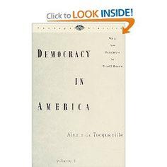Democracy in America, Volume 1 (Vintage Classics) [Paperback]  Alexis De; Boorstin, Daniel J. (introduction) Tocqueville (Author)