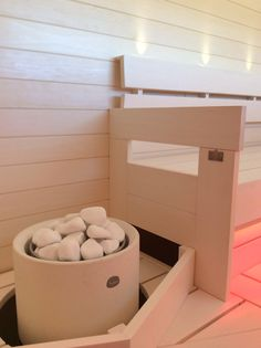 Kuura-kiuas. Sauna Heater, Sauna Design, Finnish Sauna, Spa Rooms, Steam Room, Saunas, Laundry Room, Basement, Bathrooms