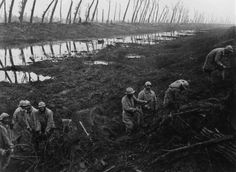 World War I Old German First Line In Canal De L Yser