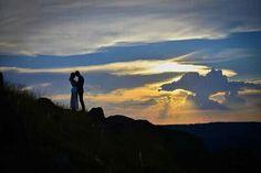 Por do sol #prewedding # Photo #love
