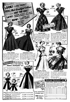 Fashion History - Women's Clothing of the 1950's