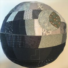 Deathstar pillow - first patchwork project
