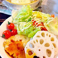サーモンと豆腐が入ったハンバーグと牡蠣のグラタンを作りました(((o(*゚▽゚*)o))) - 66件のもぐもぐ - サーモンバーグと牡蠣グラタン by mana19940517