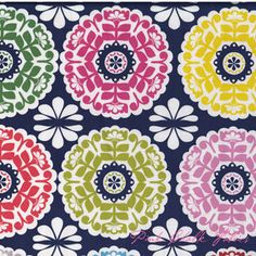 pinkchalkfabrics.com - Maude Asbury Gabbie Kaleidoscope Navy