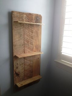 Rustic and Reclaimed Wooden Shelving Unit by MadeInAldie on Etsy
