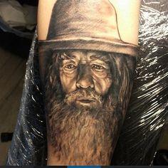 Gandalf portrait tattoo
