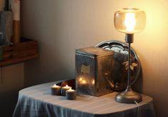 Valkoista pellavaa Lamp, Decor, Lighting, Novelty Lamp, Table, Home Decor