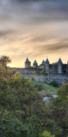 Carcassonne Cite View, France