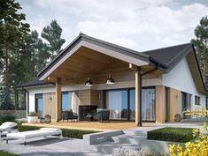 DOM.PL™ - Projekt domu AC Simon IV G2 CE - DOM AF9-81 - gotowy koszt budowy Modern Bungalow Exterior, Architecture Design, Villa, Outdoor Decor, Home Decor, Ideas, Home, Architecture Layout, Decoration Home