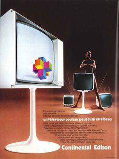 Téléviseur couleur Continental Edison - Réalités, décembre 1972