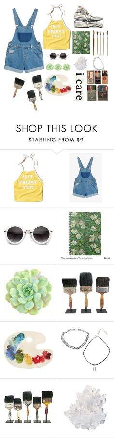 """Untitled #139"" by sarah-likes-sloths ❤ liked on Polyvore featuring Hollister Co., Monki, Converse, WALL, Fishs Eddy and McCoy Design"