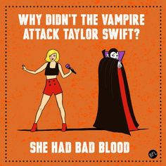 Be like the vampire. He avoids ‪#‎badblood‬- you can avoid unhealthy sugars that are bad for your ‪#‎teeth‬ and gums!  www.apiladofamilydentistry.com | 915.201.0249