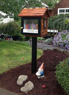Jacque Burkhalter. Arlington, WA. As a retired librarian, my house was too full of books, so I thought this was a wonderful way to share. I wasn't expecting to end up with MORE books that when I started! I put a note in my Little Free Library saying that if people had extra books to donate they could drop them off on my porch. I expected a few; but was surprised by the many bags and boxes that were donated! It seems I no longer have to worry about my little house ever being empty!