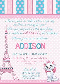 Aristochats dans Paris Spa anniversaire par partyhardydesigns